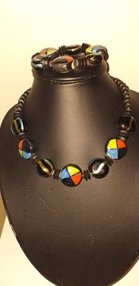 Picture of Black mix necklace & bracelet set