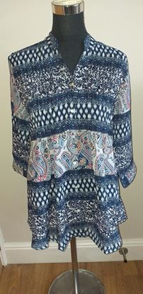 Picture of Navy mix blouse