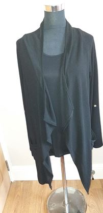 Picture of Black vest top & cardigan - Size S